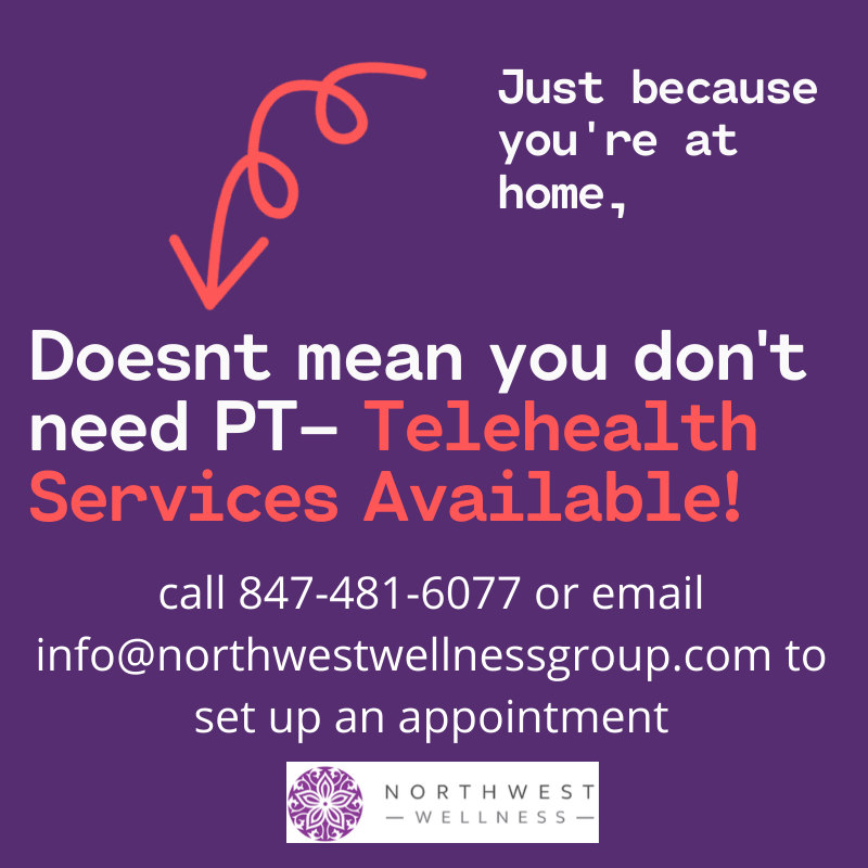 We offer telelhealth call 8474816077